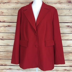 Coldwater Creek Red Heavy Blazer Jacket 20/22